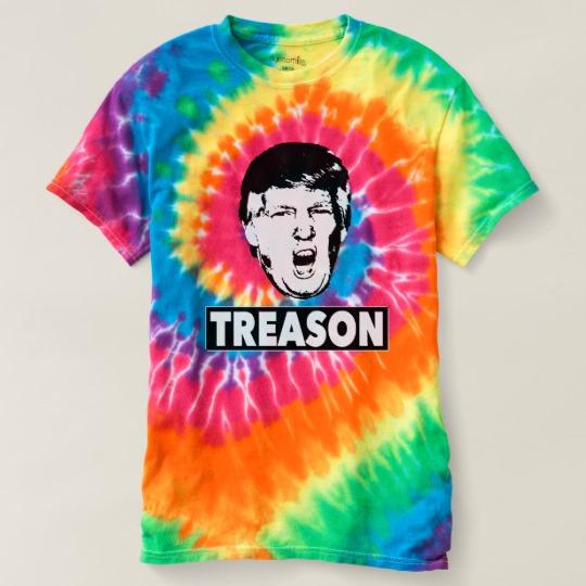 Trump Treason Women's Spiral Tie-Dye T-Shirt
