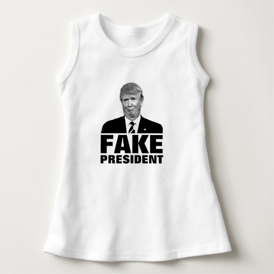Donald Trump Fake President Baby Sleeveless Dress