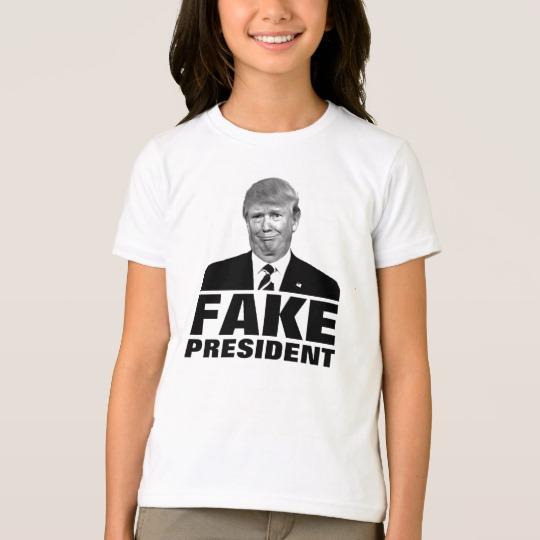 Donald Trump Fake President Girls' American Apparel Fine Jersey T-Shirt
