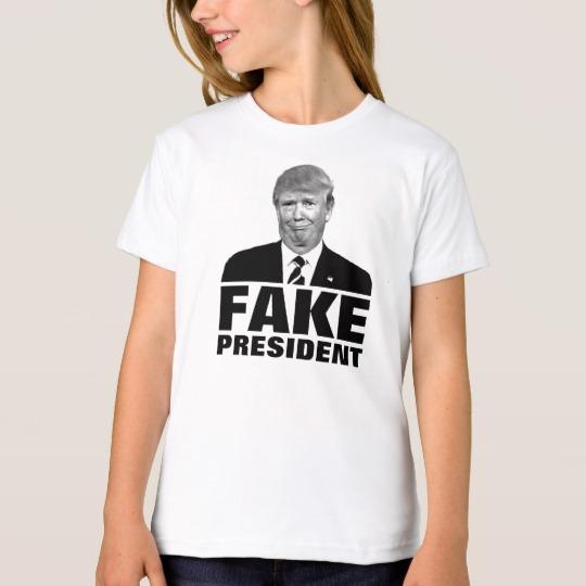 Donald Trump Fake President Girls' American Apparel Organic T-Shirt