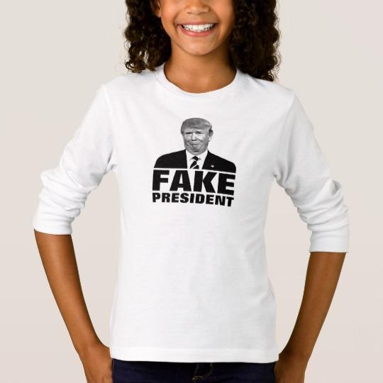 Donald Trump Fake President Girls' Basic Long Sleeve T-Shirt