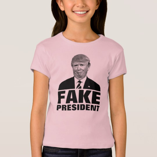 Donald Trump Fake President Girls' Bella+Canvas Fitted Babydoll T-Shirt