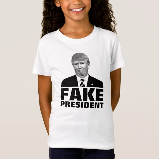 Donald Trump Fake President Girls' Fine Jersey T-Shirt
