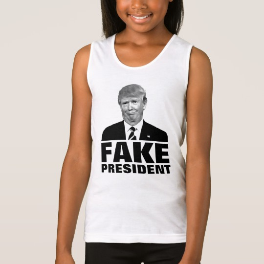 Donald Trump Fake President Girls' Fine Jersey Tank Top
