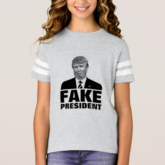 Donald Trump Fake President Girls' Football Shirt