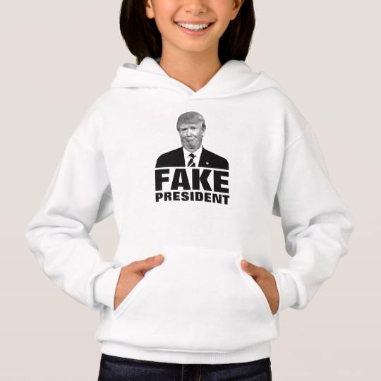 Donald Trump Fake President Girls' Hanes ComfortBlend® Hoodie