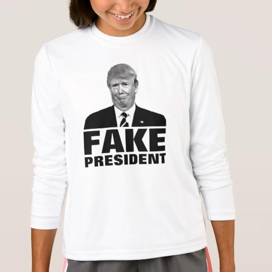 Donald Trump Fake President Girls' Sport-Tek Competitor Long Sleeve T-Shirt