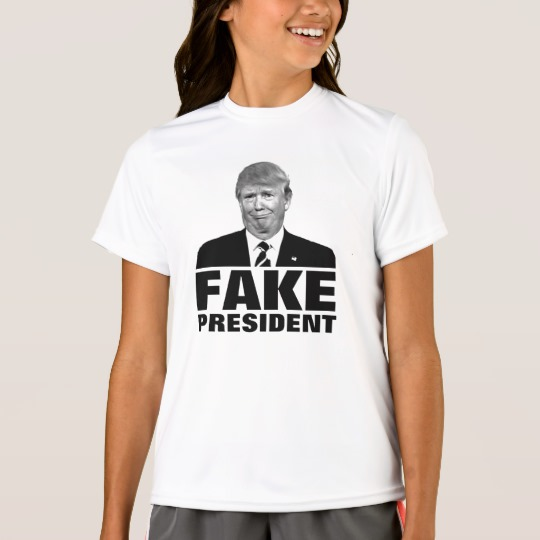 Donald Trump Fake President Girls' Sport-Tek Competitor T-Shirt