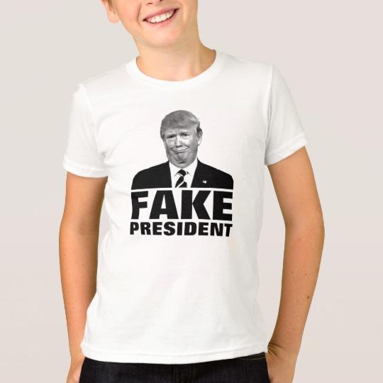 Donald Trump Fake President Kids' American Apparel Fine Jersey T-Shirt