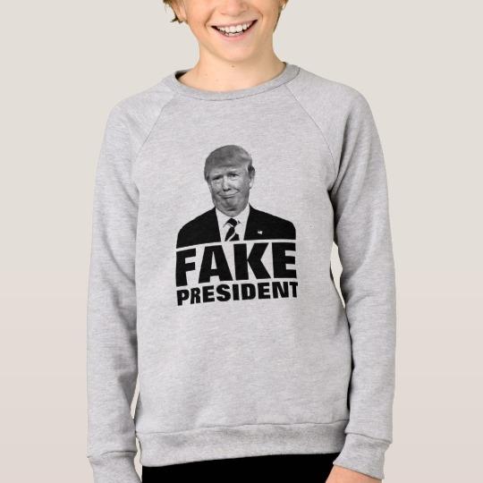 Donald Trump Fake President Kids' American Apparel Raglan Sweatshirt