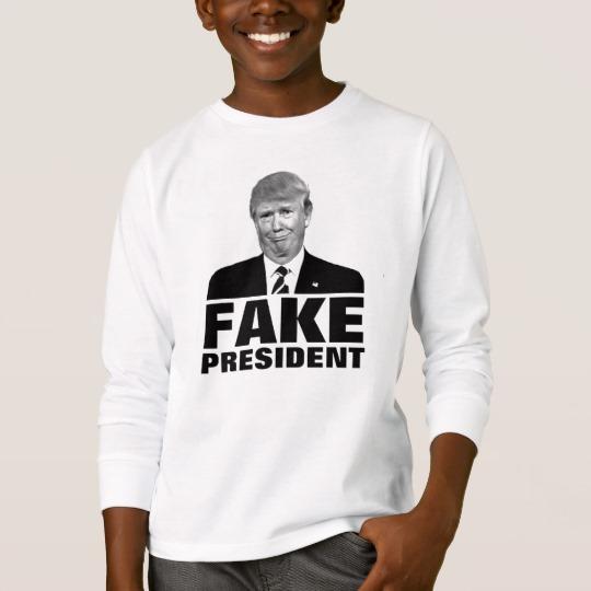 Donald Trump Fake President Kids' Basic Long Sleeve T-Shirt