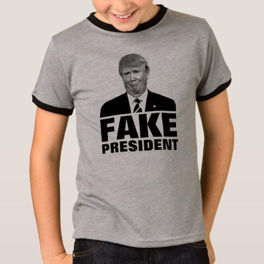 Donald Trump Fake President Kids' Basic Ringer T-Shirt