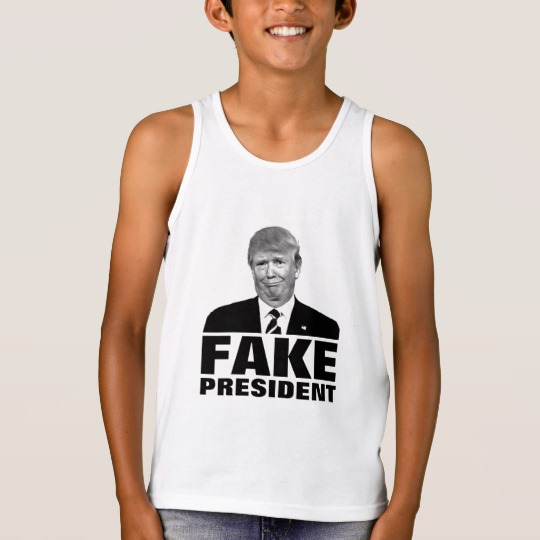 Donald Trump Fake President Kids' Bella+Canvas Jersey Tank Top