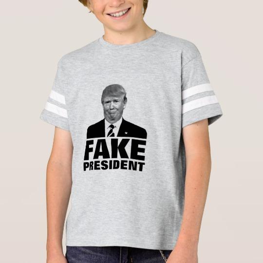 Donald Trump Fake President Kids' Football Shirt