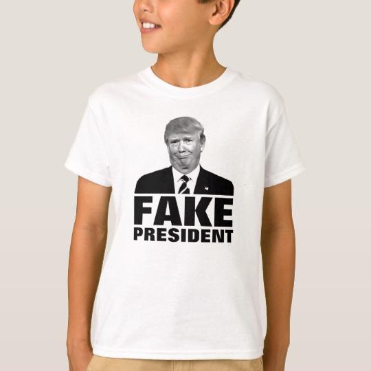 Donald Trump Fake President Kids' Hanes TAGLESS® T-Shirt