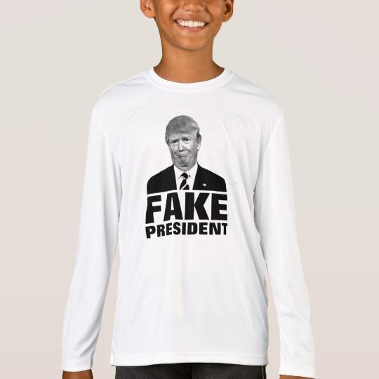Donald Trump Fake President Kids' Sport-Tek Competitor Long Sleeve T-Shirt
