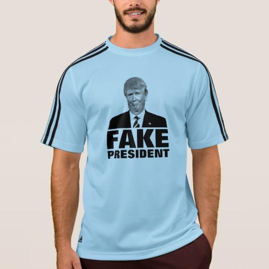 Donald Trump Fake President Men's Adidas ClimaLite® T-Shirt