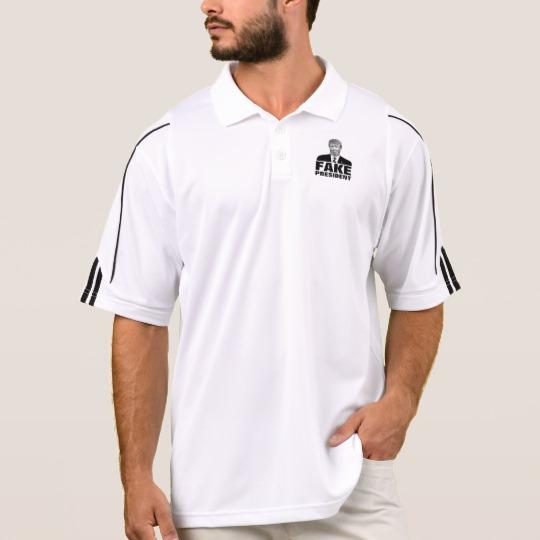 Donald Trump Fake President Men's Adidas Golf ClimaLite® Polo Shirt