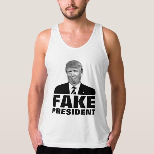 Donald Trump Fake President Men's American Apparel Fine Jersey Tank Top