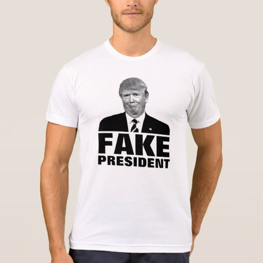 Donald Trump Fake President Men's American Apparel Poly-Cotton Blend T-Shirt