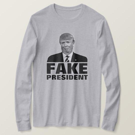 Donald Trump Fake President Men's Basic Long Sleeve T-Shirt