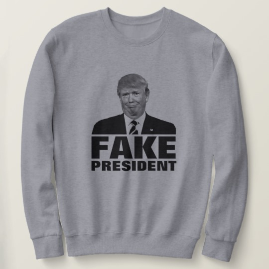 Donald Trump Fake President Men's Basic Sweatshirt