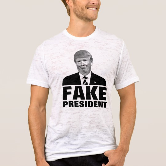 Donald Trump Fake President Men's Canvas Fitted Burnout T-Shirt