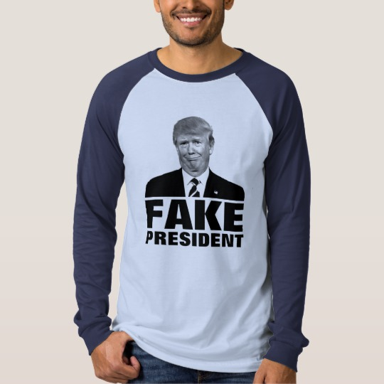 Donald Trump Fake President Men's Canvas Long Sleeve Raglan T-Shirt