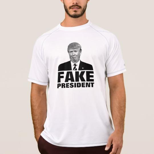 Donald Trump Fake President Men's Champion Double Dry Mesh T-Shirt