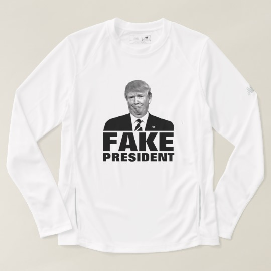 Donald Trump Fake President Men's New Balance Long Sleeve T-Shirt
