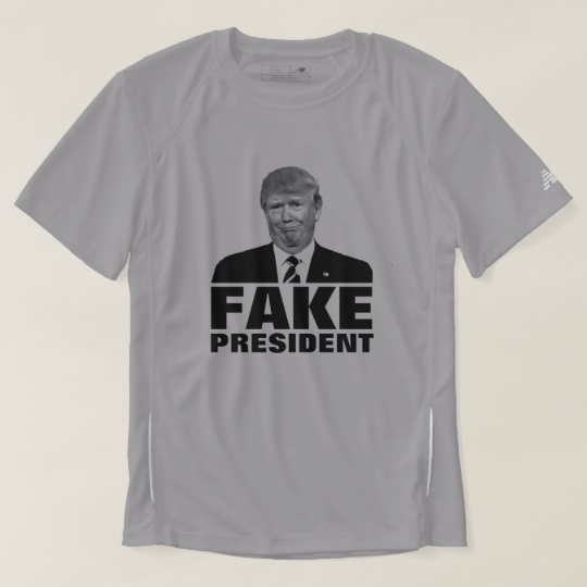 Donald Trump Fake President Men's New Balance T-Shirt