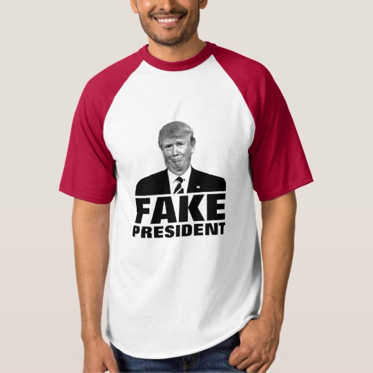 Donald Trump Fake President Men's Raglan Baseball T-Shirt