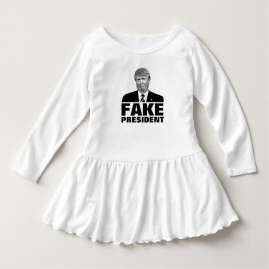 Donald Trump Fake President Toddler Ruffle Dress