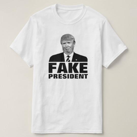 Donald Trump Fake President Value T-Shirt