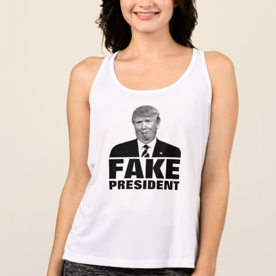 Donald Trump Fake President Women's All Sport Performance Tank Top