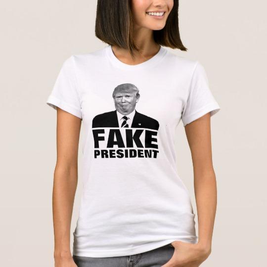 Donald Trump Fake President Women's American Apparel Fine Jersey T-Shirt