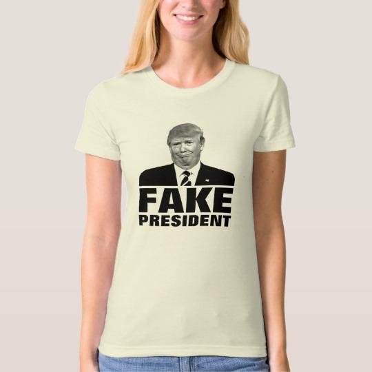 Donald Trump Fake President Women's American Apparel Organic T-Shirt
