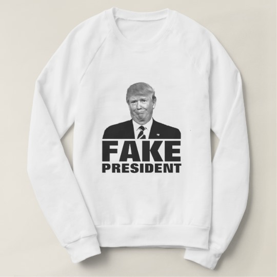 Donald Trump Fake President Women's American Apparel Raglan Sweatshirt