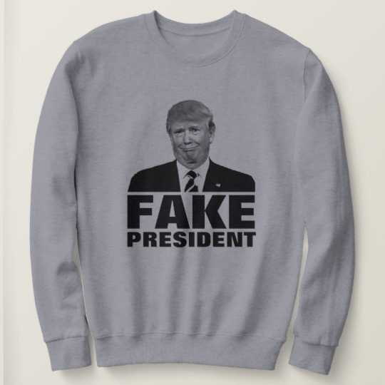 Donald Trump Fake President Women's Basic Sweatshirt