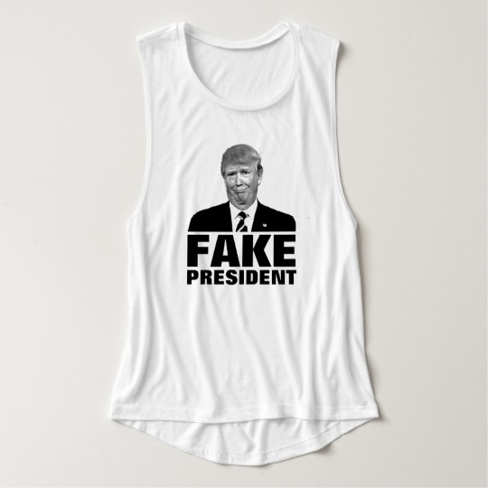 Donald Trump Fake President Women's Bella+Canvas Flowy Muscle Tank Top