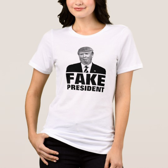 Donald Trump Fake President Women's Bella+Canvas Relaxed Fit Jersey T-Shirt