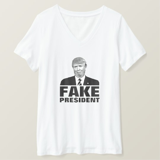 Donald Trump Fake President Women's Bella+Canvas Relaxed Fit V-Neck T-Shirt