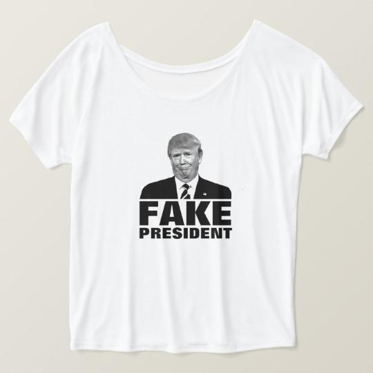 Donald Trump Fake President Women's Bella+Canvas Slouchy Boyfriend T-Shirt