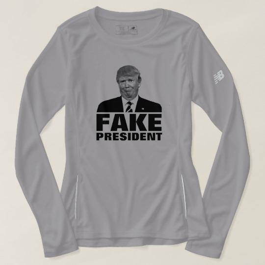 Donald Trump Fake President Women's New Balance Long Sleeve T-Shirt