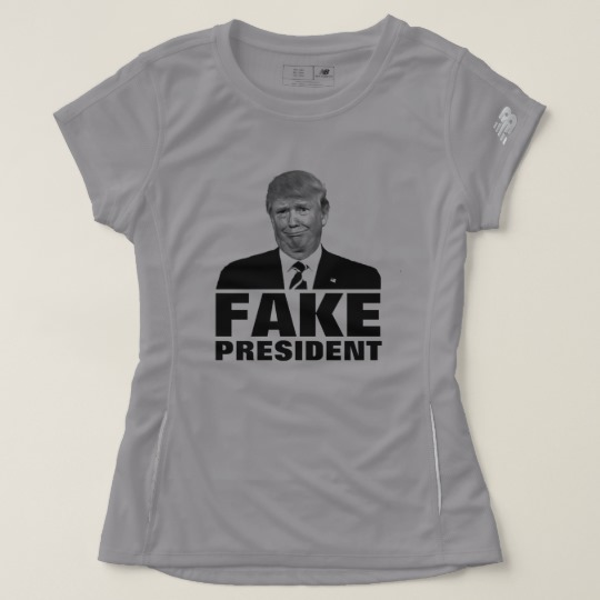 Donald Trump Fake President Women's New Balance T-Shirt