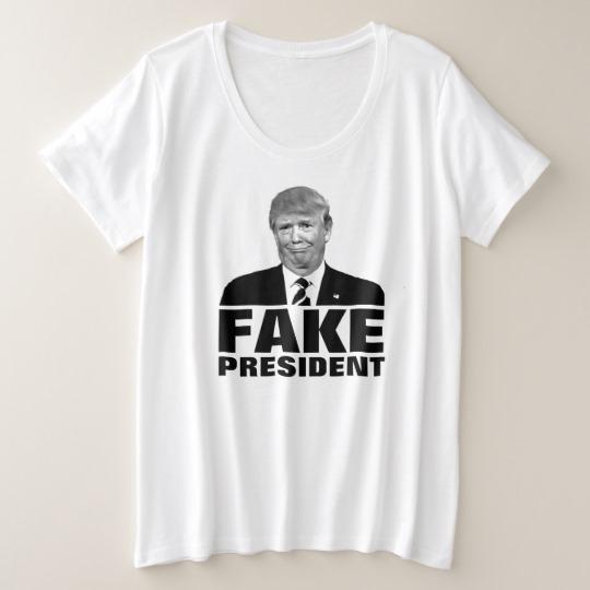 Donald Trump Fake President Women's Plus-Size Basic T-Shirt