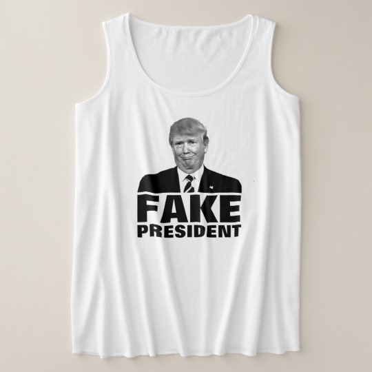 Donald Trump Fake President Women's Plus-Size Tank Top