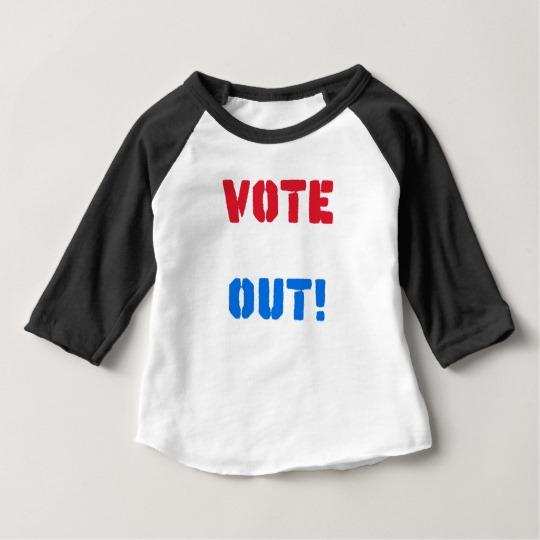 Vote em Out Baby American Apparel 3/4 Sleeve Raglan T-Shirt