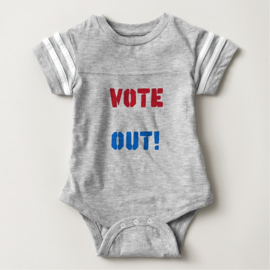 Vote em Out Baby Football Bodysuit