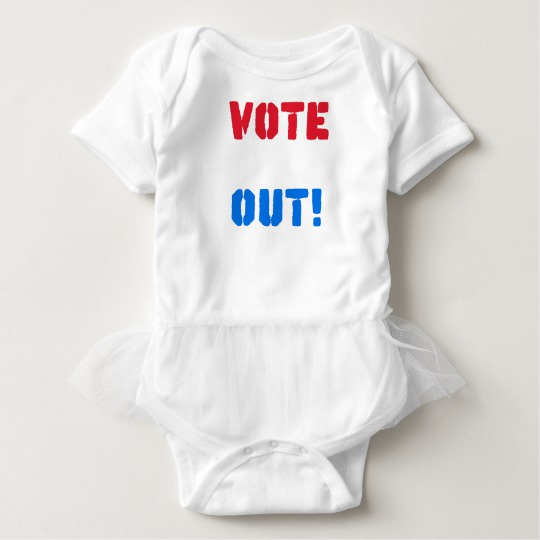 Vote em Out Baby Tutu Bodysuit